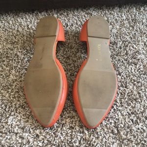 Restricted Shoes - Orange open flats
